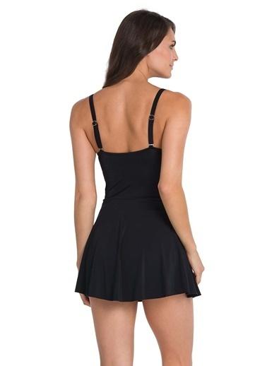 Dagi Kaplı Elbiseli Mayo Siyah